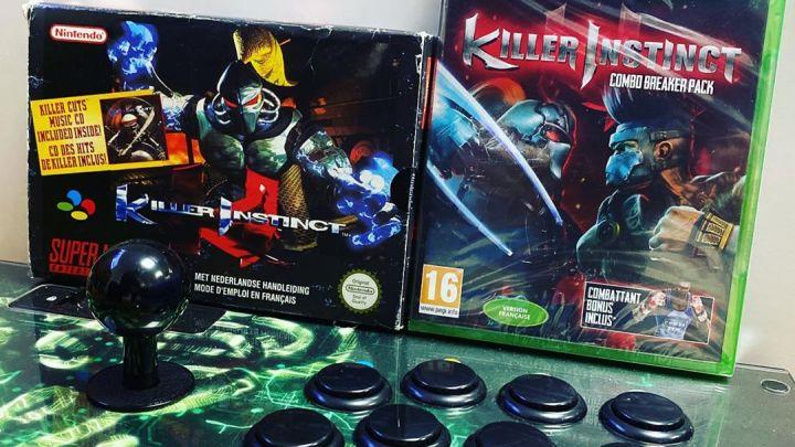 21 ans entre ces 2 boites – 21 years between these 2 boxes #killerinstinct #snes #snin #xboxone #rare #rareware #gamer #…