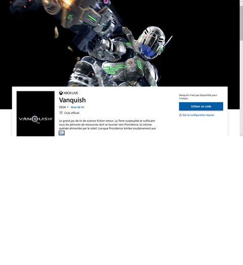 Vanquish le fast-TPS de @SEGA semble revenir dans une version remastérisée en 4K 60FPS le 18 février 2020 sur Xbox selon…