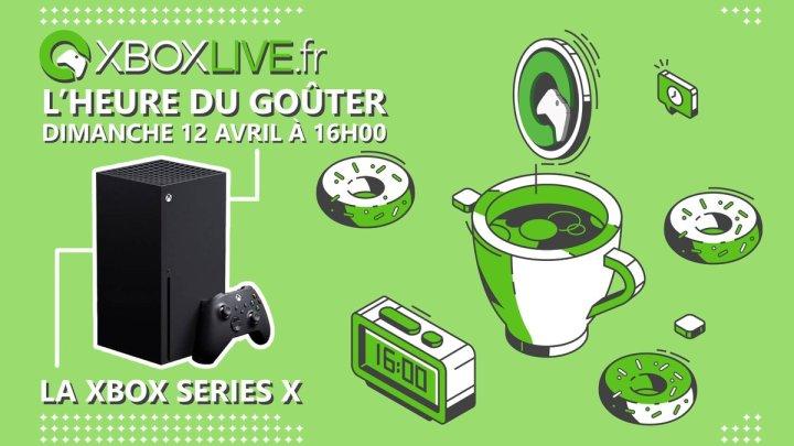 Ça vous dit un petit goûter dimanche à 16h pour échanger et poser vos questions sur la Xbox Series X ?Ça sera ce dimanche 12/04 à 16h sur https://t.co/cZ3M4Xk860 (abonnez-vous pour ne pas louper le début) pic.twitter.com/4EuRirh9YT