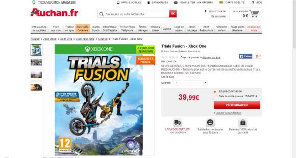 Trials Fusion à 35€