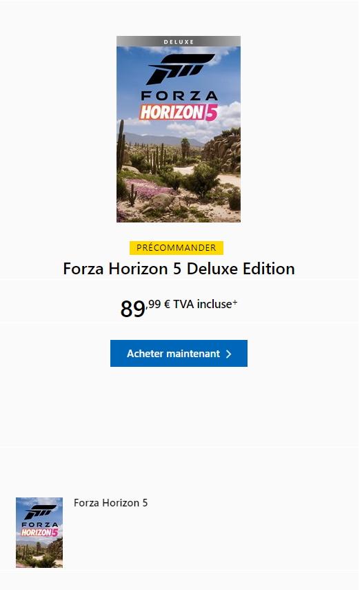 Forza Horizon 5 Edition Deluxe