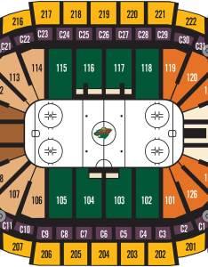 Hockey seating also charts xcel energy center rh xcelenergycenter