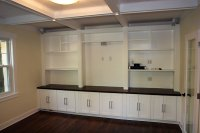 Modern Custom Built-Ins Shelves and Staircase   Xcelrenovation