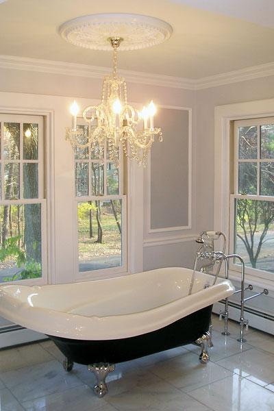 Victorian Bathroom with Clawfoot Tub  Xcelrenovation