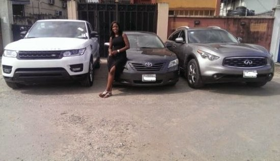 2014 Range Rover Sport, 2008 Toyota Camry and 2011 Infinity FX 35