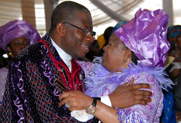 Nigeria's President Goodluck Jonathan and wife, Patience