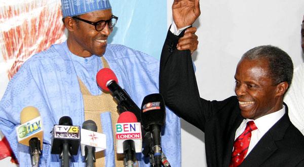 APC Presidential Candidate Muhammadu Buhari Presents His Running Mate Yemi Osinbajo
