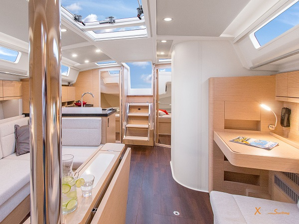 Luxury Sailing Yacht spacious saloon