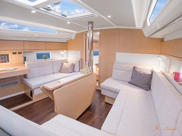 Luxury Sailing Yacht Spacious couch and table