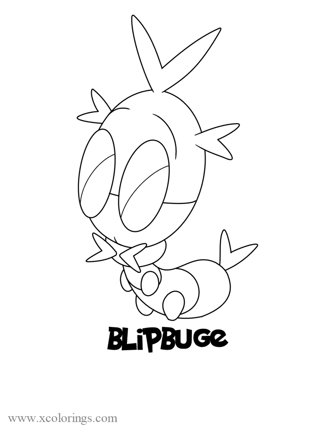 Blipbug From Pokemon Sword And Shield Coloring Pages Xcolorings Com
