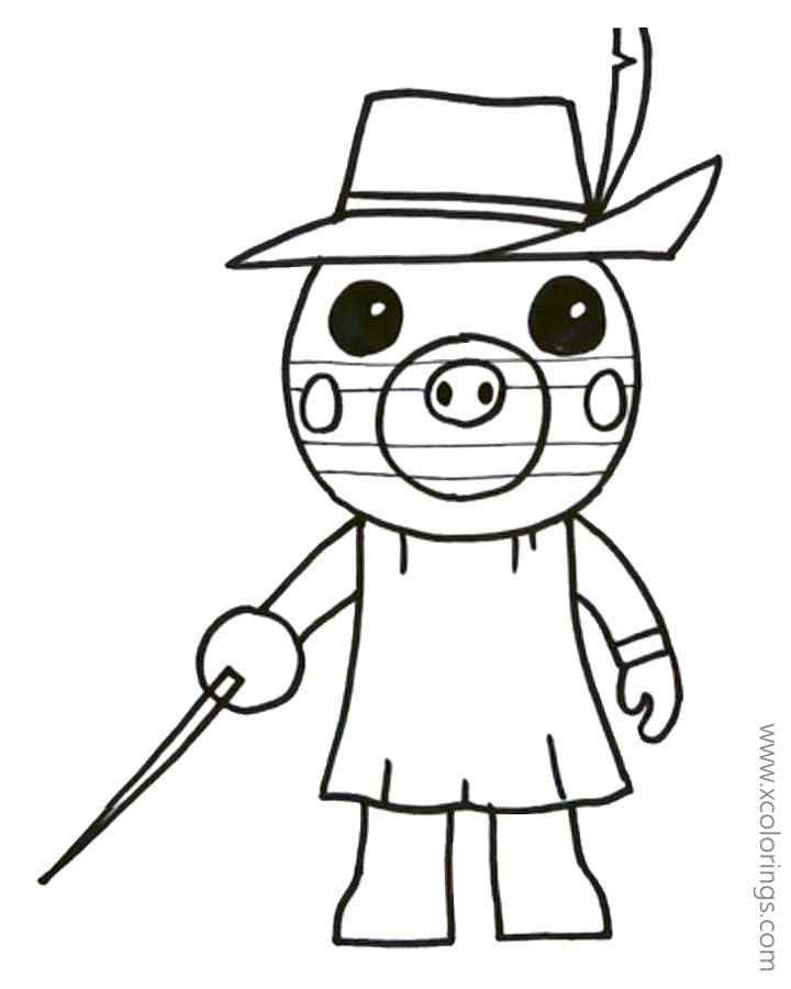 Piggy Roblox Zizzy Coloring Pages Xcolorings Com