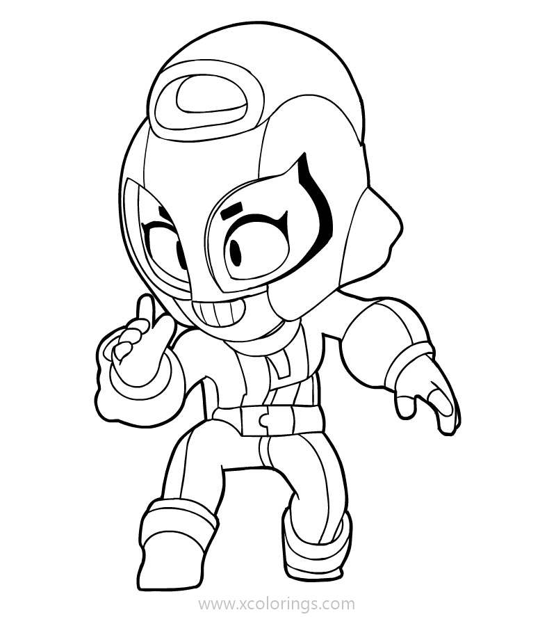 Brawl Stars Coloring Sheet Xcolorings Com