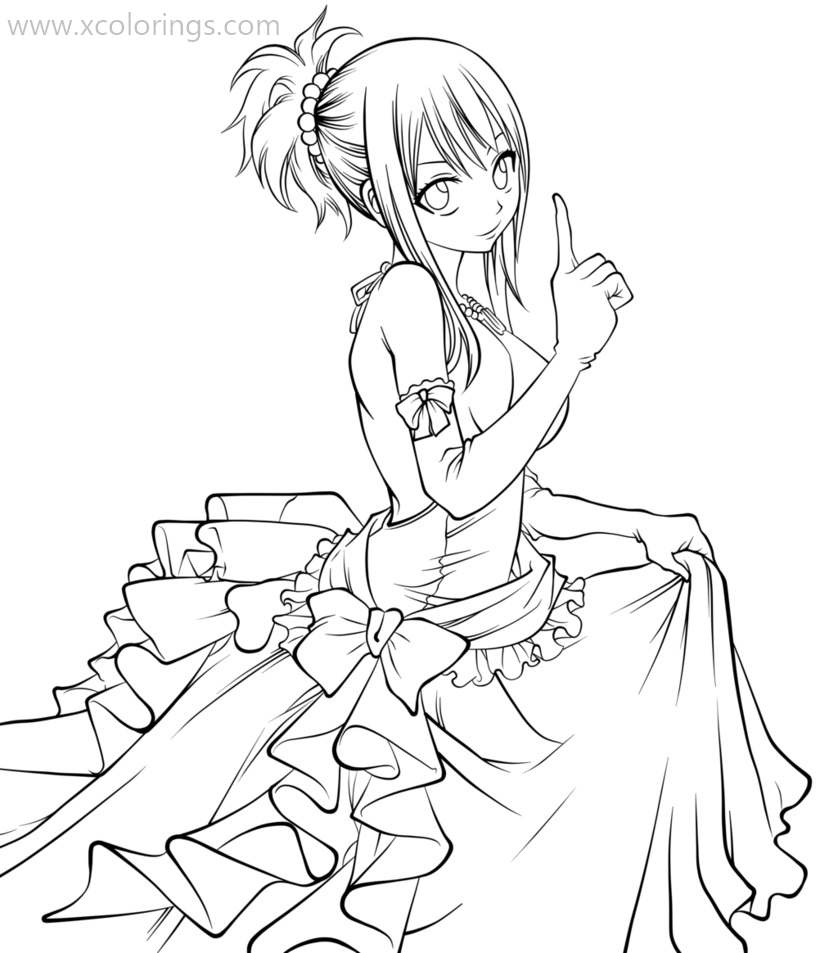 Fairy Tail Coloring Pages Wendy Xcolorings Com
