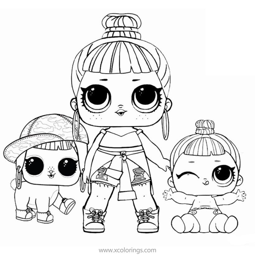 Lol Dolls And Pets Coloring Pages, The Best Printable Lol
