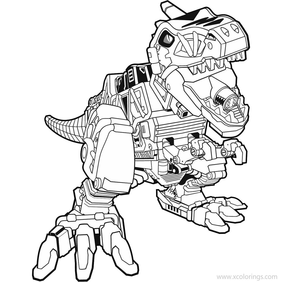 View 18 Power Rangers Dino Charge Zord Coloring Pages