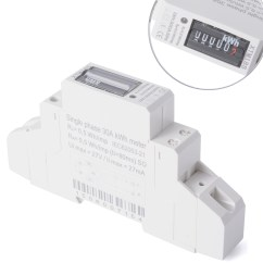 Single Phase Power How To Draw Moment Diagrams Hot 50hz 5 30 A Kwh Meter Din Rail Mounted