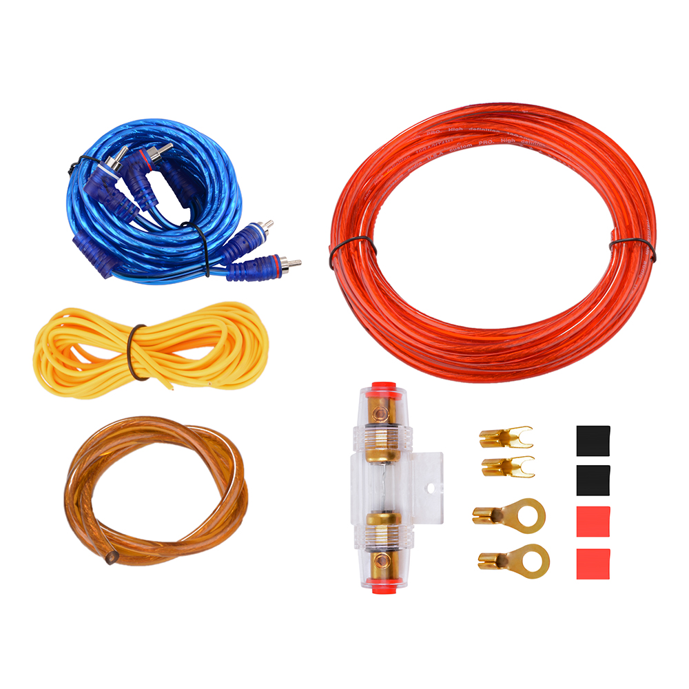 10 Awg Gauge Car Audio Amplifier Amp Sub Speaker Wire Wiring Kit Cable
