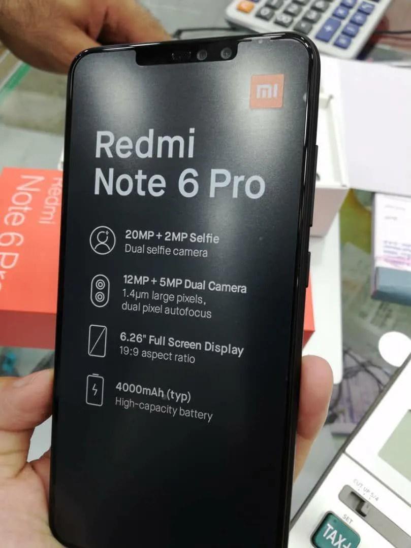 Foto Xiaomi Redmi Note 6 Pro Bocor di Internet, Gunakan 4 Kamera dan Poni 2