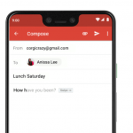 Google Pixel 3 Gmail Smart Compose