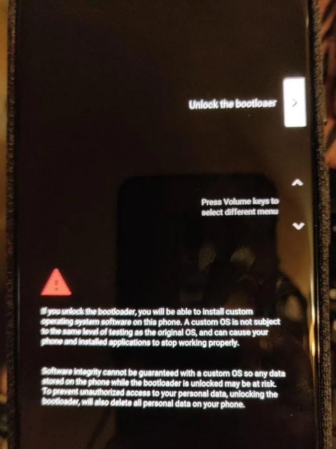 Google Pixel 3 XL unlock bootloader