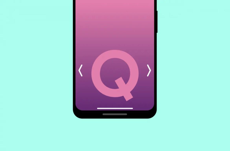 Android Q gestos navegação