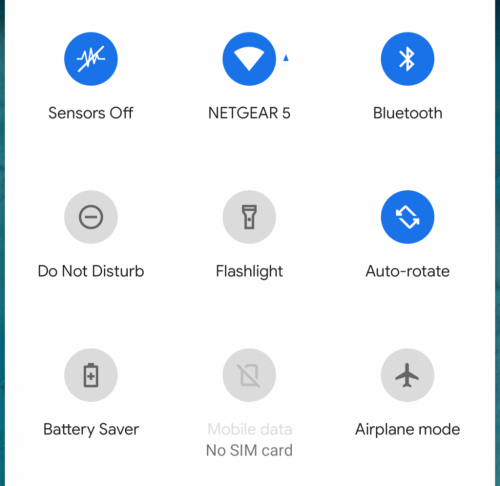 Android Q Sensors Off
