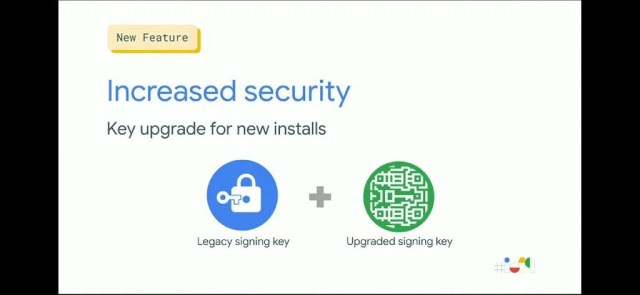 Increased security with app signing keys