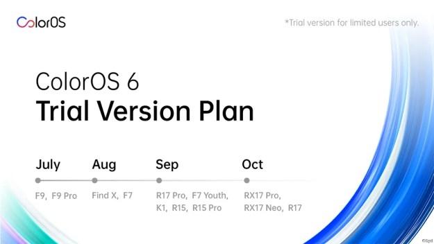 oppo coloros 6 update schedule