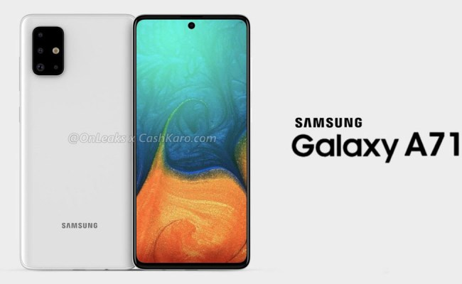 Leaked Galaxy A71 Renders Reveal Punch Hole Display Quad