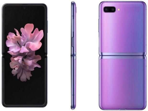 Samsung Galaxy Z Flip en miroir violet