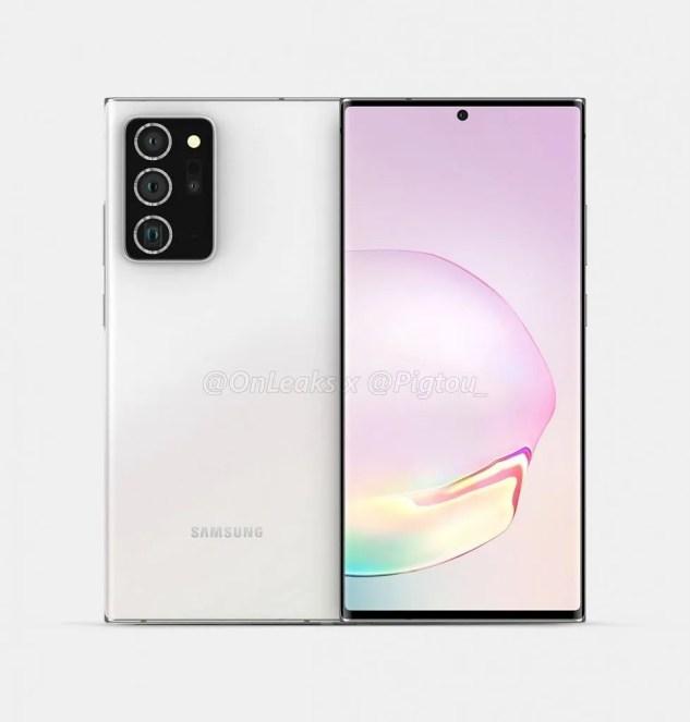 Samsung Galaxy Note 20+ leaked render