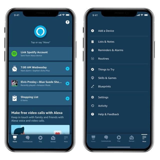 Amazon Alexa app redesign