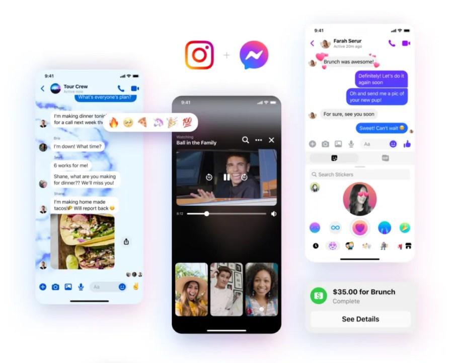 Facebook Messenger yeniden tasarım özellikleri