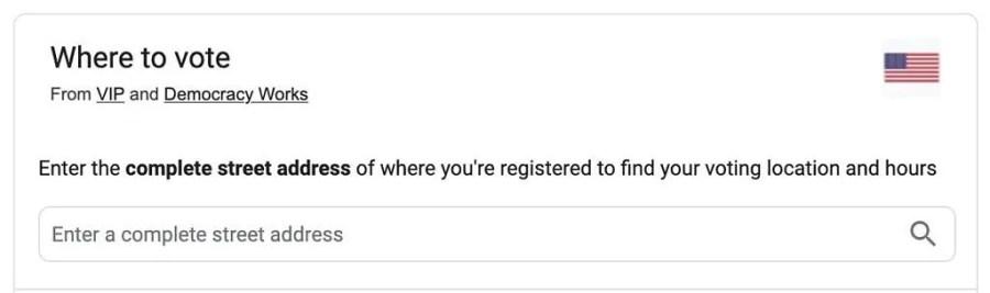 Google Nerede oy verileceğini ara bilgileri