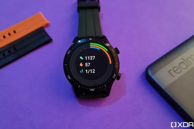 Realme Watch S Pro activity tracking widget