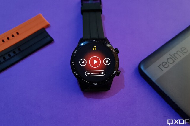 Realme Watch S Pro music playback controls widget