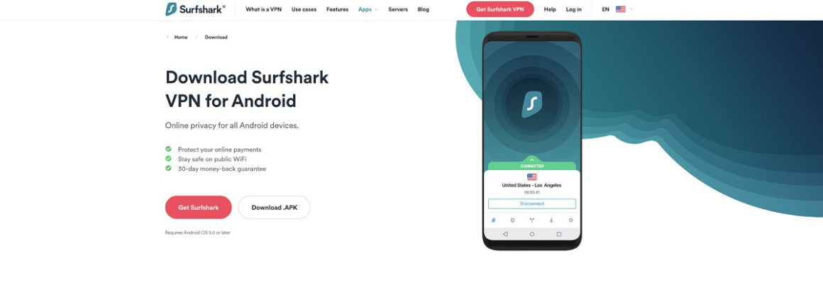 Surfshark is the most affordable premium Android VPN app.