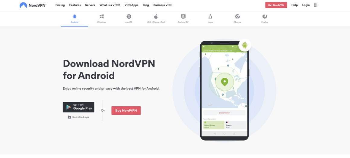 NordVPN for Android.