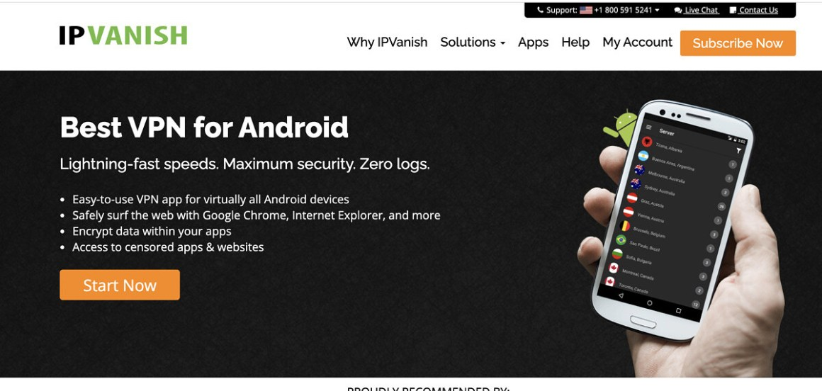 IPVanish for Android.