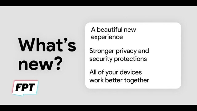 """Android 12 """"what's new"""" card"""