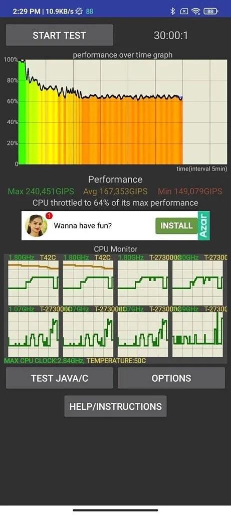 Xiaomi Mi 11X Pro CPU throttling