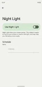 Android 12 Beta 2 Night Light theme setting