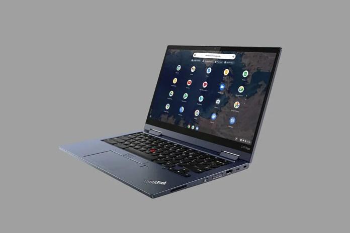 Lenovo ThinkPad C13 Yoga Chromebook grey background