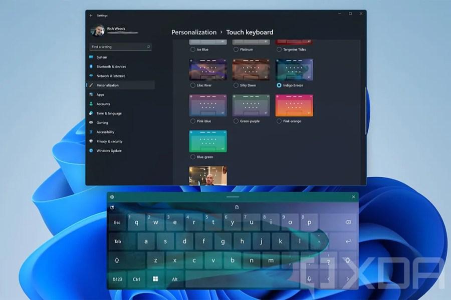 Touch Keyboard in Personalization settings