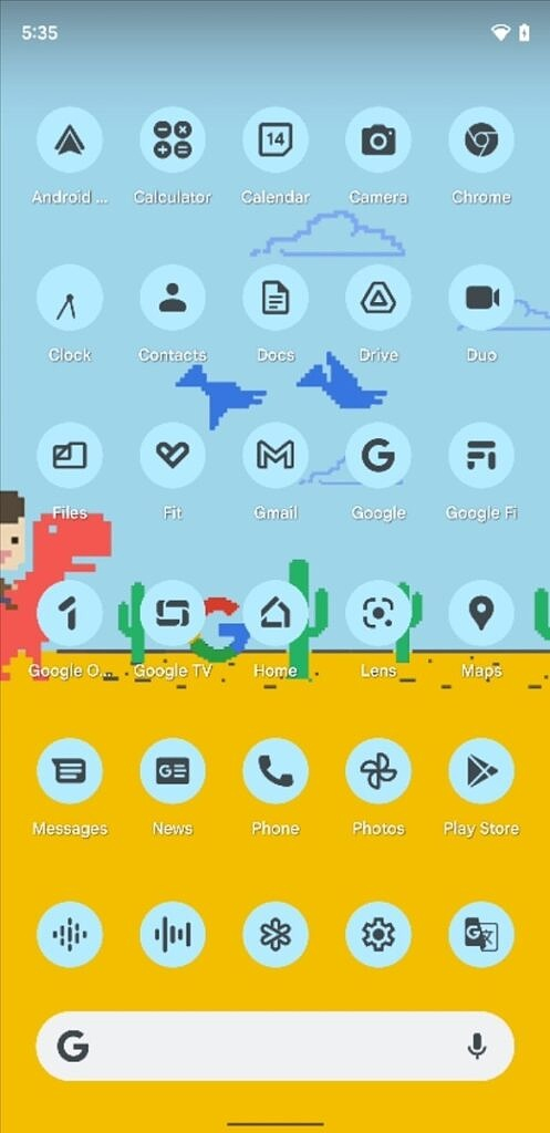 Themed Google app icons in Android 12