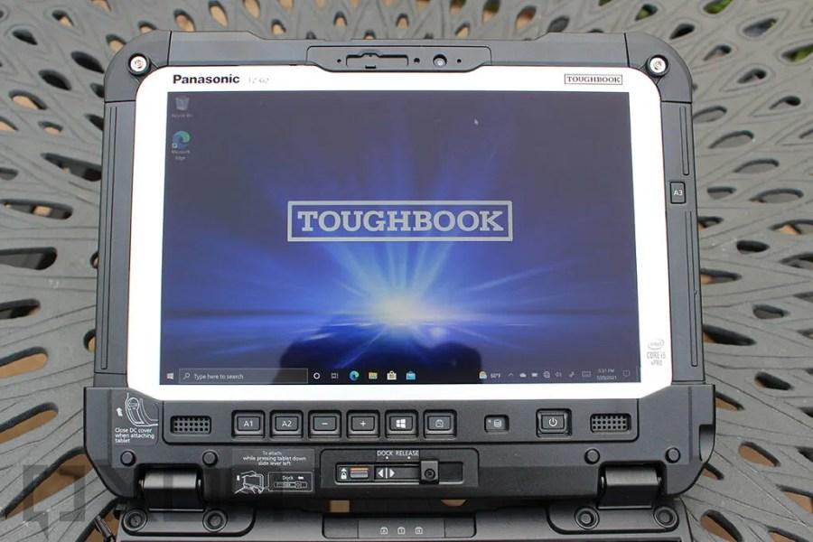 Panasonic TOUGHBOOK G2 screen close up