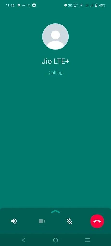 New calling UI in WhatsApp