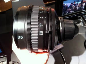 F3-85mm-300x224 Interbee 2010. Sony F3, Sony 35mm NXCAM and Hurricane Rig.