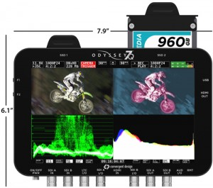Waveform and measurement options on the Convergent Design Odyssey7Q