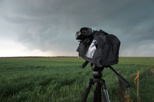 Storm chasing with a PMW-F5 and Miller Solo.